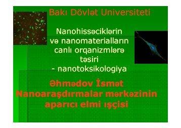 Bakı Dövl Bakı Dövlət Universiteti t Universiteti Əhmədov İ dov İsmət ...