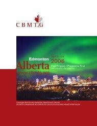 Alberta - CBMTG