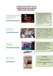 RUES EN FETE 2012 Mercredi 18 juillet - Acvs