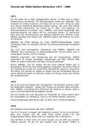 Chronik der USKA-Sektion Winterthur 1971 - 1980 - HB9W