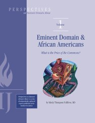 Eminent Domain & African Americans - The Castle Coalition