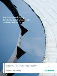 Drives for Water Industry - Industria de Siemens