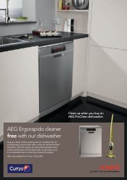 AEG Ergorapido cleaner free with our dishwasher - E-Merchant
