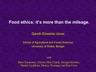 Food Ethics: It's More than the Mileage