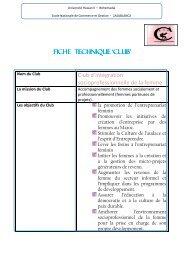 Fiche Technique 'Club' - Ecole Nationale de Commerce et de ...