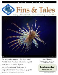 June 2009 - Kitchener Waterloo Aquarium Society