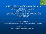 la red iberoamericana para la gestión del agua en agricultura ...