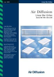 Linear Bar Grilles - Air Diffusion