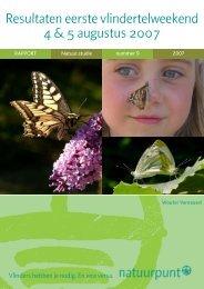 Resultaten vlindertelweekend 2007 - Natuurpunt