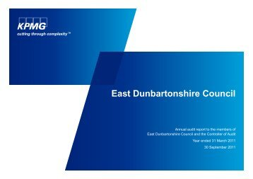 East Dunbartonshire Council (PDF | 273 KB)Opens ... - Audit Scotland