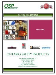Anti-Fatigue Mat - ontario safety products