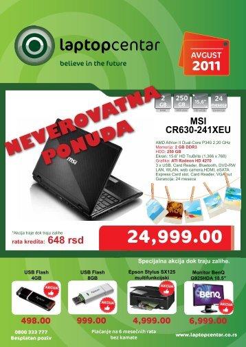 NEVEROVATNA PONUDA - Laptop Centar