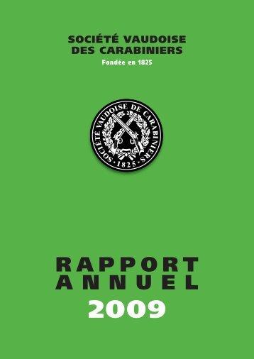 Rapport annuel 2009 - Les Tireurs Vaudois