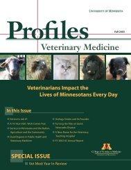 Fall 2003 - University of Minnesota College of Veterinary Medicine