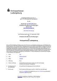 Nominal 10.000.000 Euro ... - Kreissparkasse Ludwigsburg