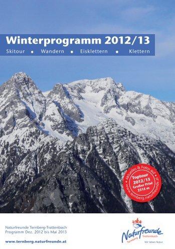 Winterprogramm 2012/13 - Ternberg-Trattenbach - Naturfreunde