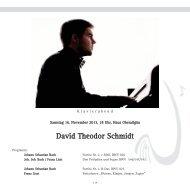 David Theodor Schmidt - Gesellschaft Freunde der Musik