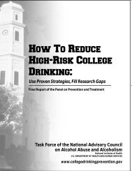 Final Report of the Panel on Prevention and Treatment - College ...