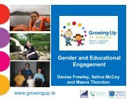 Gender and Educational Engagement - Growing Up in Ireland