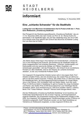 pd hd 13.11.2009 - Stadtpolitik Heidelberg