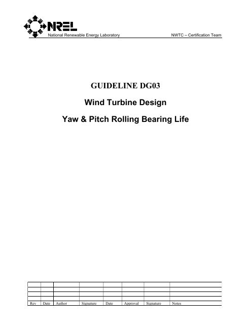 C4 Yaw & Pitch Rolling Bearing Life pdf - CleanEnergy Solutions
