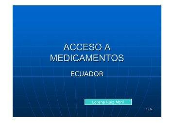 Presentación: Observatorio de Precios. Experiencia Ecuador