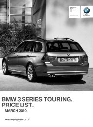 BMW 3 SERIES TOURING. PRICE LIST. - BMW South Africa