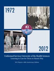 2012 Annual Report - Uniformed Services University of the Health ...