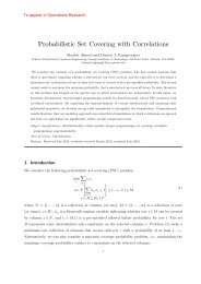 Probabilistic Set Covering with Correlations - H. Milton Stewart ...