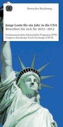 Junge Leute für ein Jahr in die USA Bewerben Sie sich für 2012 ...