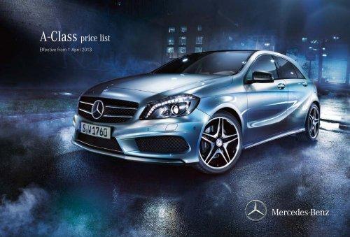 A-Class price list - Mercedes-Benz