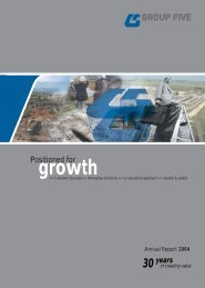 Download Annual Report 2004 - Group Five