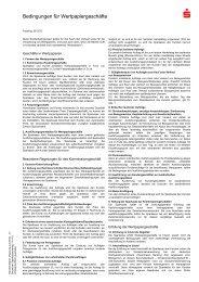 Bedingungen für Wertpapiergeschäfte - Frankfurter Sparkasse