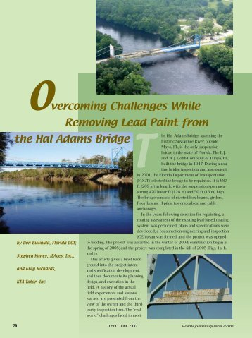 Overcoming Challenges While Removing Lead Paint ... - PaintSquare