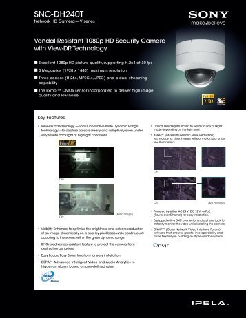 Product datasheet: Sony SNC-DH240T - Network Webcams