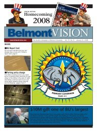 1/31/2008 - The Belmont Vision