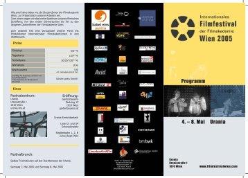 Folder Aussen - Wien, Filmfestival der Filmakademie