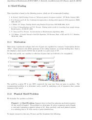Motif finding - Algorithms in Bioinformatics
