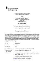 Inhaberschuldverschreibungen Kreissparkasse Ludwig