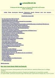 und Ökotipps, Umwelt aktuell, Wasser-Info, NASA-Info ... - Umweltbrief