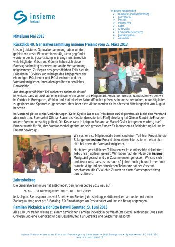 einladung gv insieme freiamt - einladung gv 2013