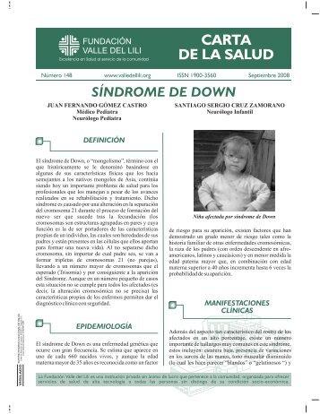 SÍNDROME DE DOWN - Fundacion Valle del lili