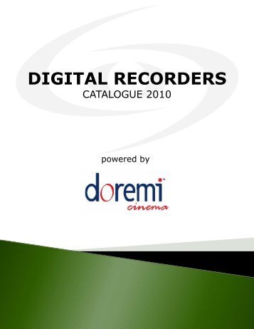 Digital Recorders Product Catalogue - Spacevision.gr