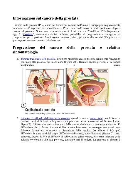 prognosi dei sintomi del cancro alla prostata