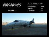 Learjet 60XR s/n 346 Year (EIS): 2008 TTAF: 761 ... - Bombardier