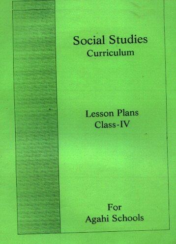 Social Studies Curriculum Lesson Plans Class - IV