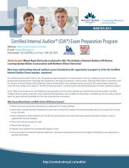 Certified Internal Auditor - The Institute of Internal Auditors