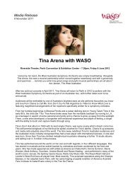 Tina Arena with WASO - West Australian Symphony Orchestra