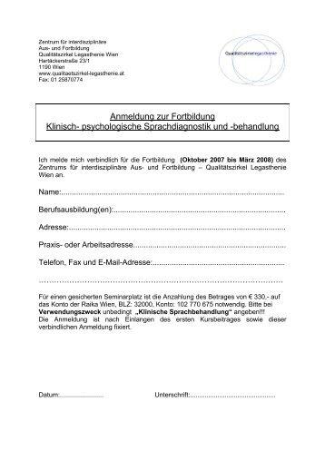 psychologische Sprachdiagnostik und -behandlung - Qualitätszirkel ...