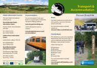Transport & Accommodation - Shropshire Walking